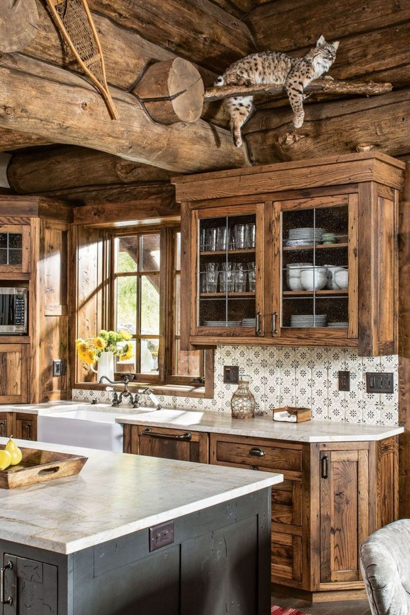 Awesome Rustic Kitchen Design Ideas 23
