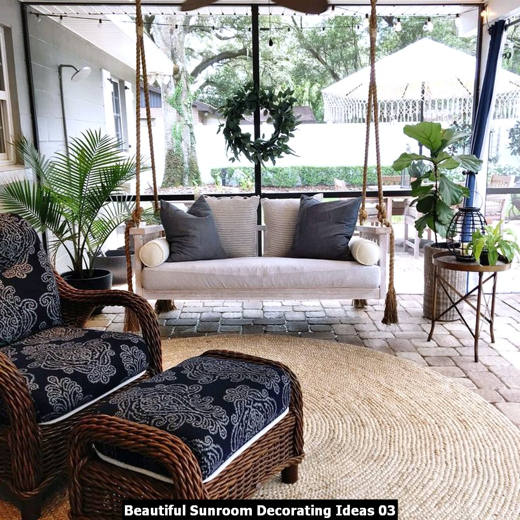 Beautiful Sunroom Decorating Ideas 03