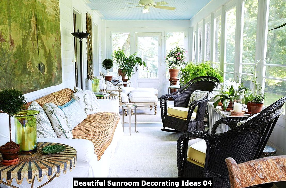 Beautiful Sunroom Decorating Ideas 04