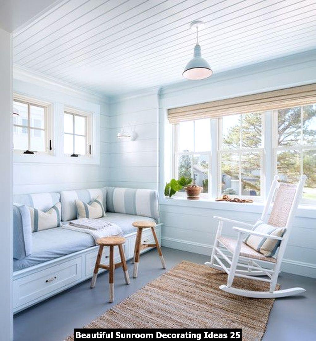 Beautiful Sunroom Decorating Ideas 25