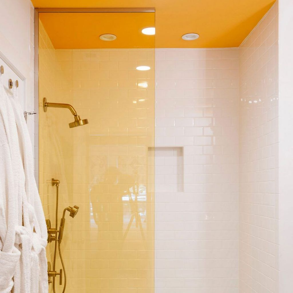 Creative Sunny Yellow Bathroom Decor For Summer 08