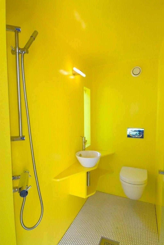 Creative Sunny Yellow Bathroom Decor For Summer 12