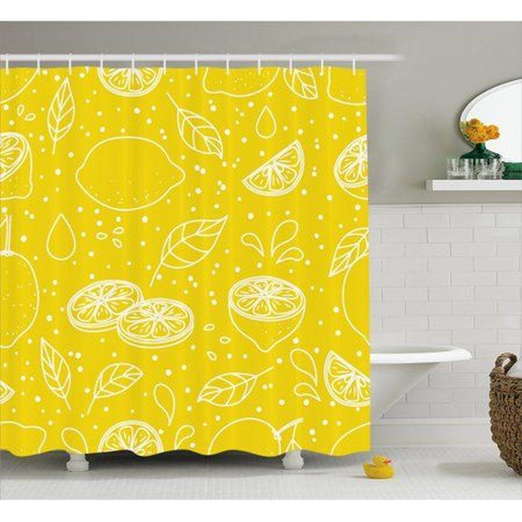 Creative Sunny Yellow Bathroom Decor For Summer 16
