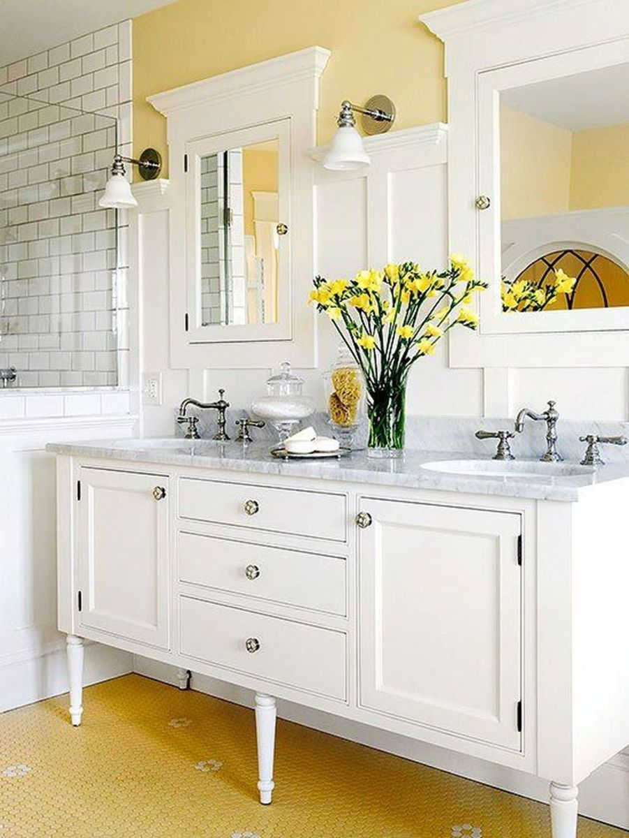 Creative Sunny Yellow Bathroom Decor For Summer 25