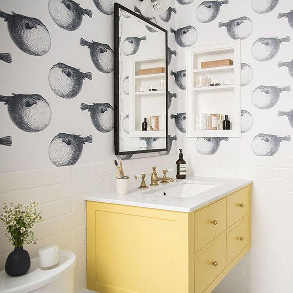 Creative Sunny Yellow Bathroom Decor For Summer 28
