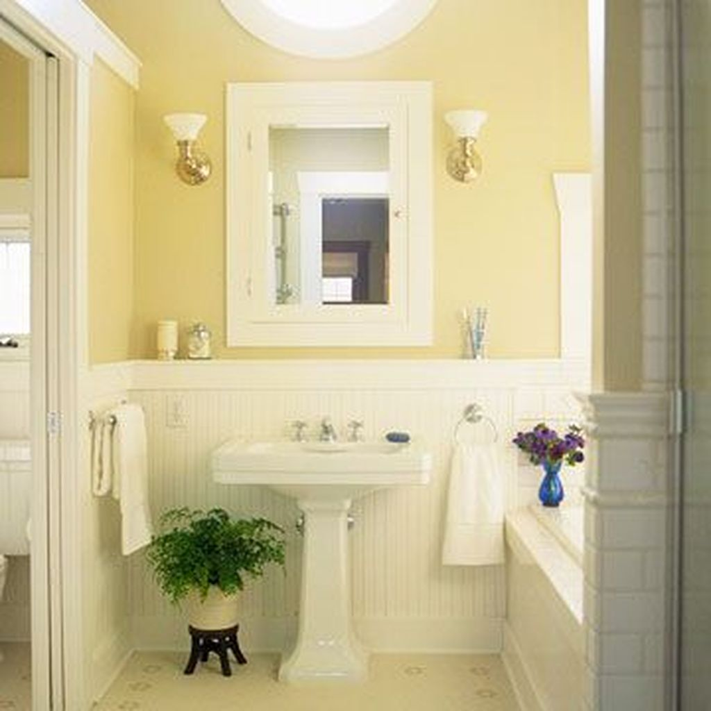 Creative Sunny Yellow Bathroom Decor For Summer 30