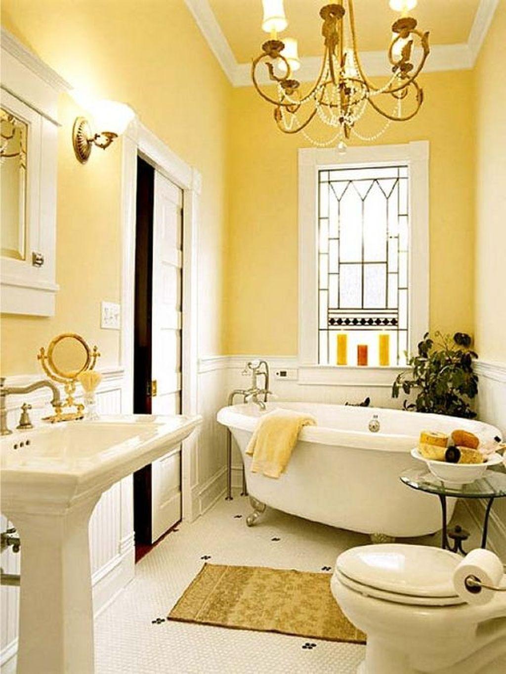 Creative Sunny Yellow Bathroom Decor For Summer 40