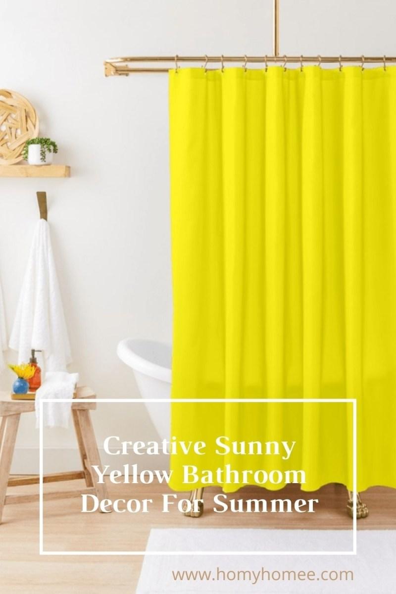 Creative Sunny Yellow Bathroom Decor For Summer