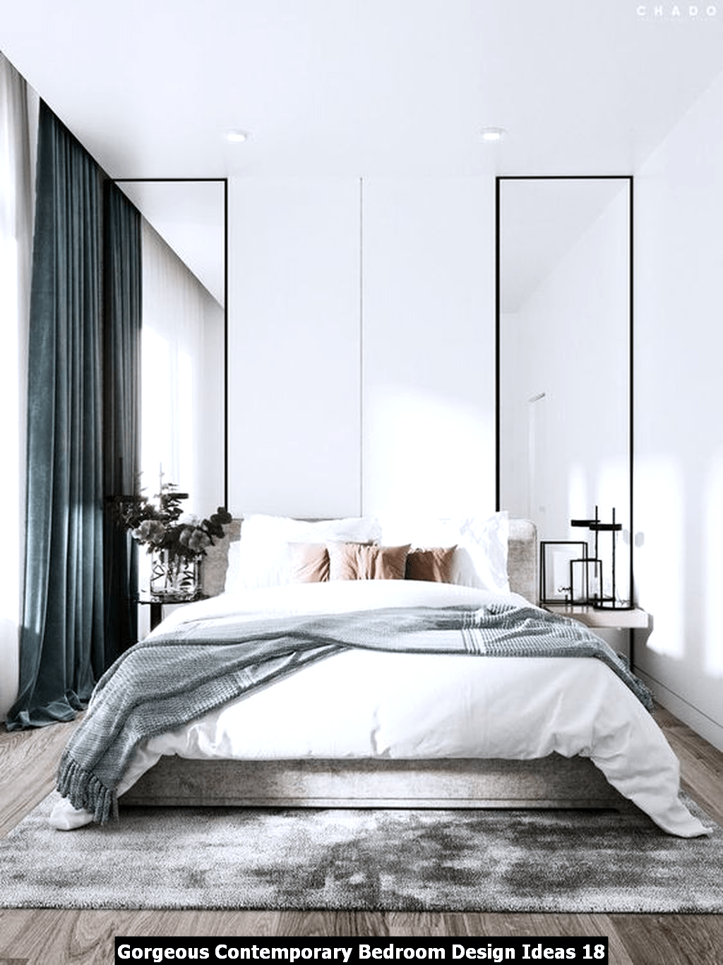 Gorgeous Contemporary Bedroom Design Ideas 18
