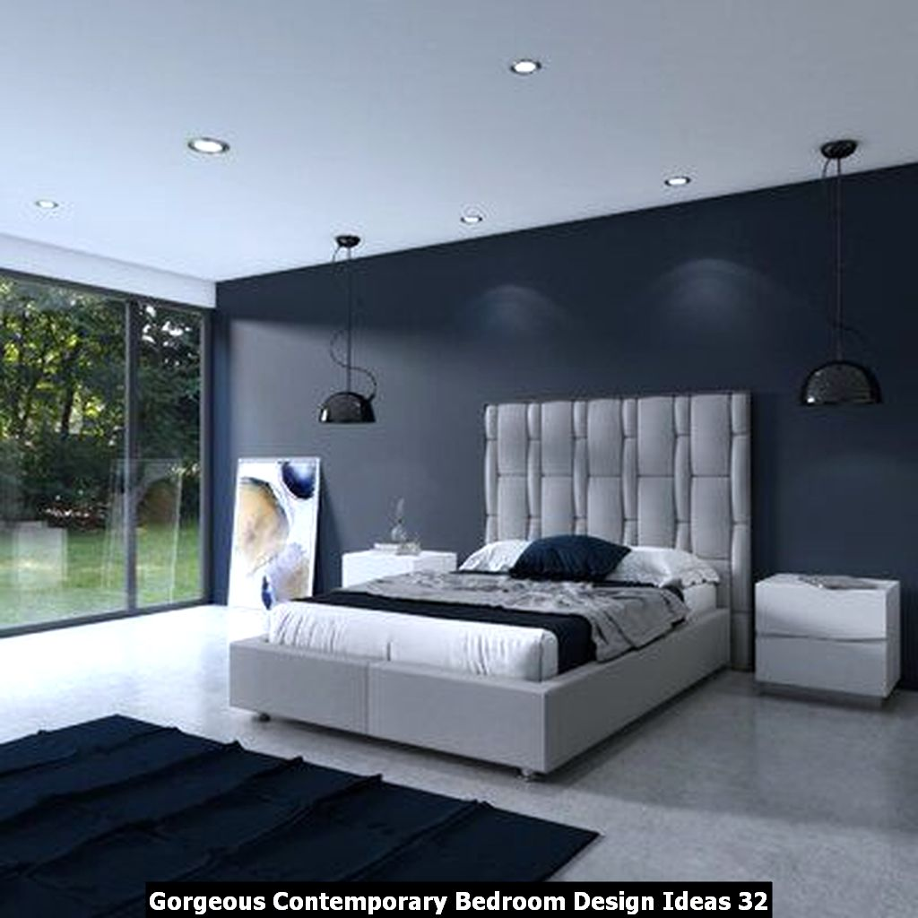Gorgeous Contemporary Bedroom Design Ideas 32
