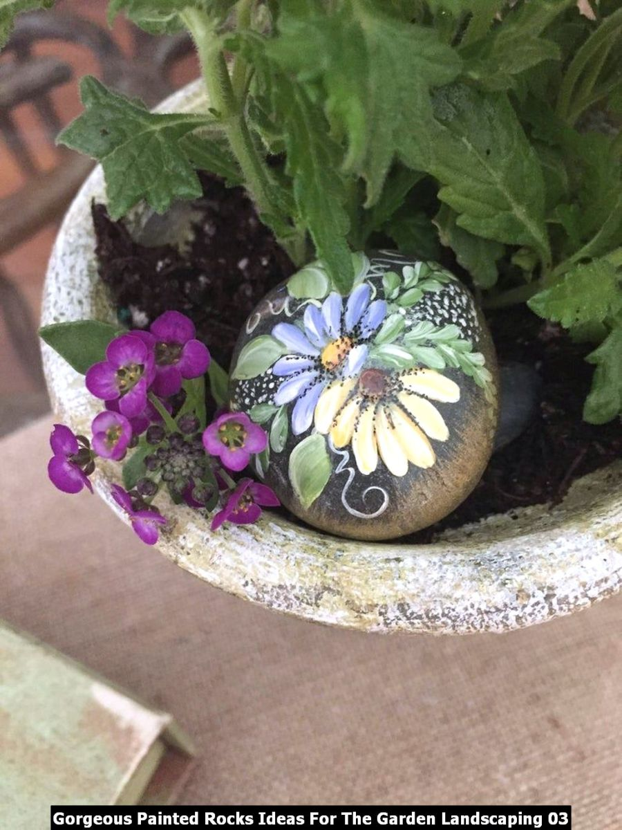 Gorgeous Painted Rocks Ideas For The Garden Landscaping 03