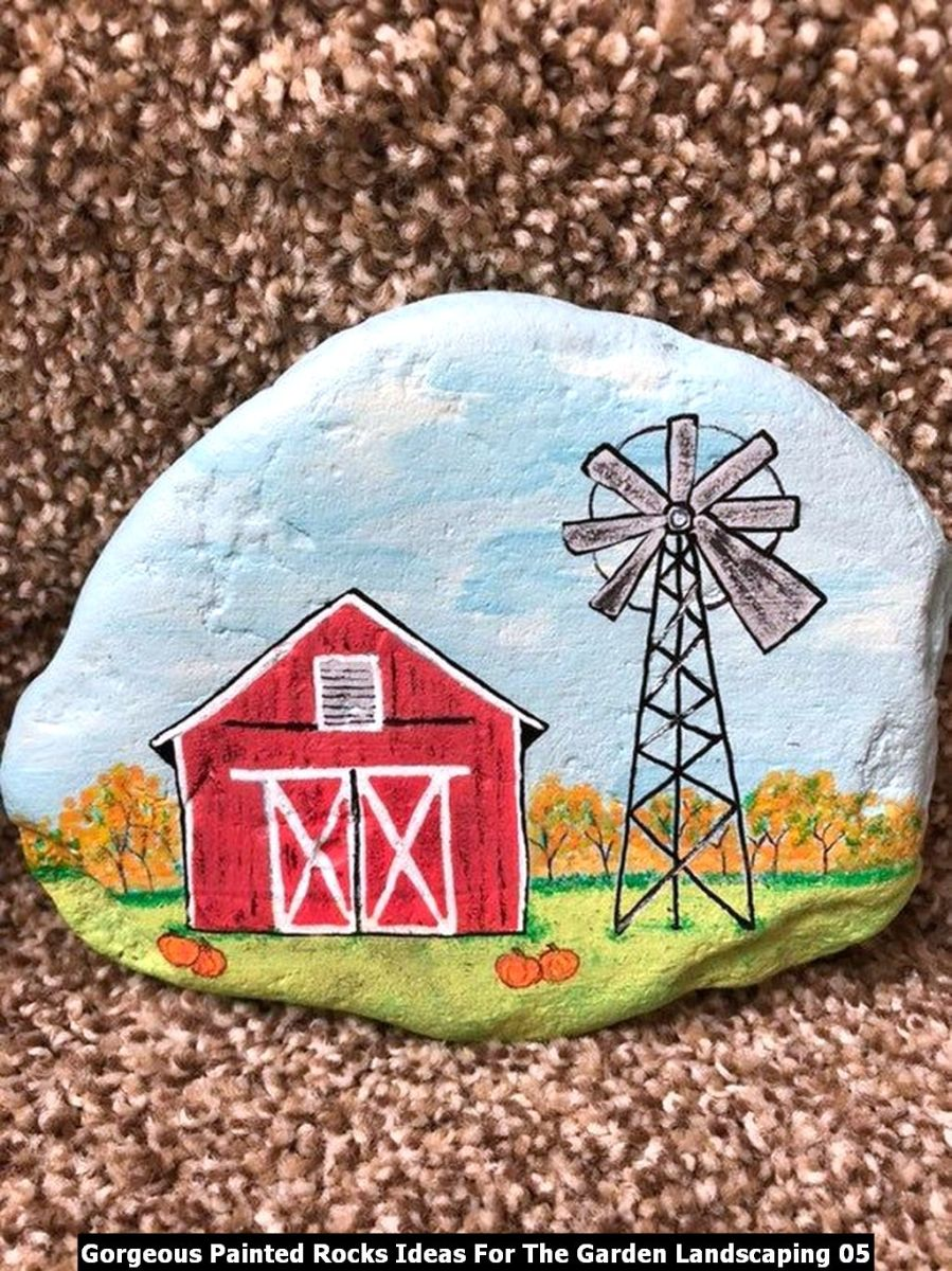 Gorgeous Painted Rocks Ideas For The Garden Landscaping 05