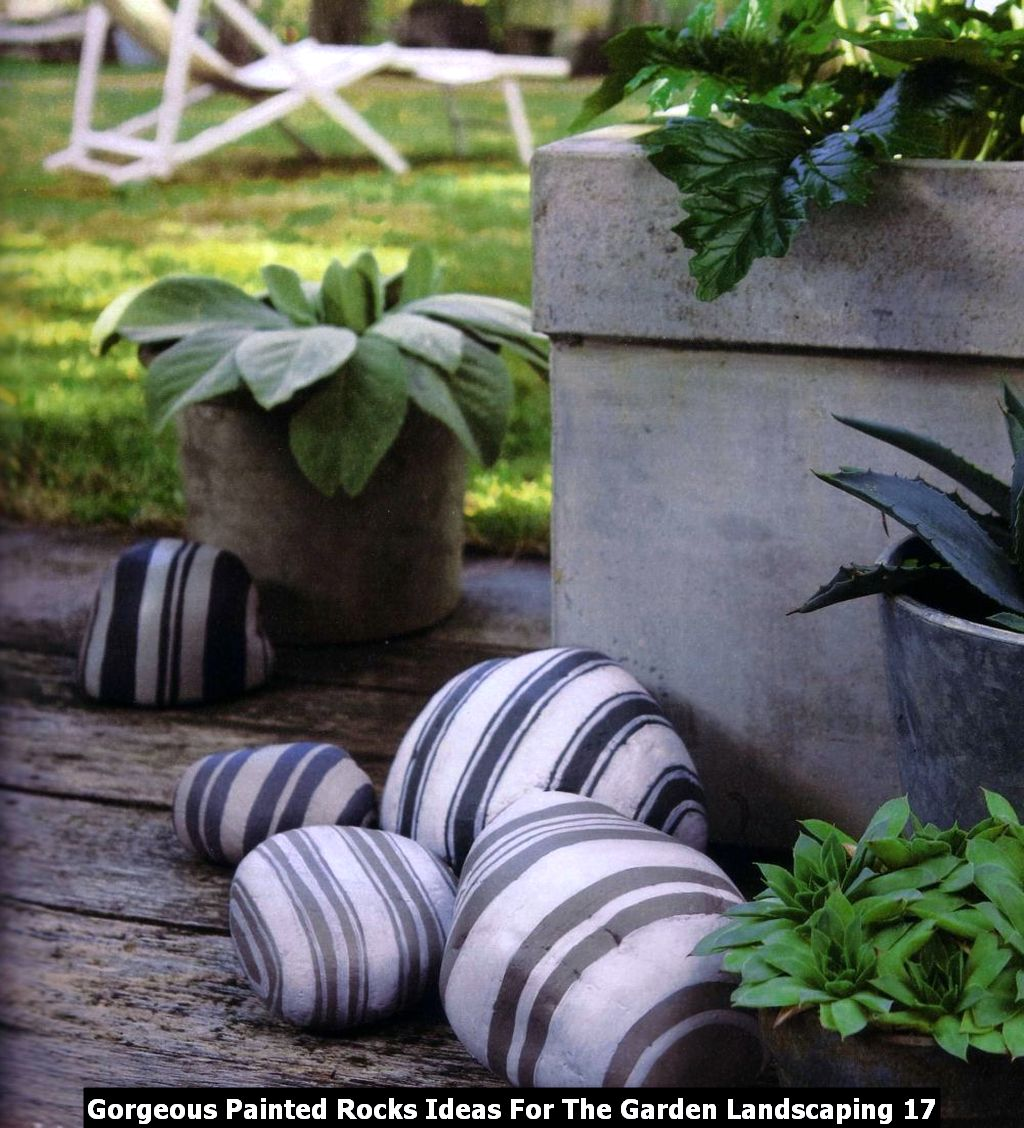 Gorgeous Painted Rocks Ideas For The Garden Landscaping 17