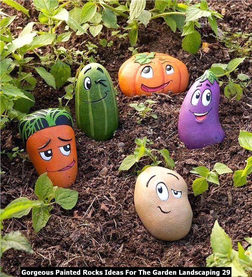 Gorgeous Painted Rocks Ideas For The Garden Landscaping 29