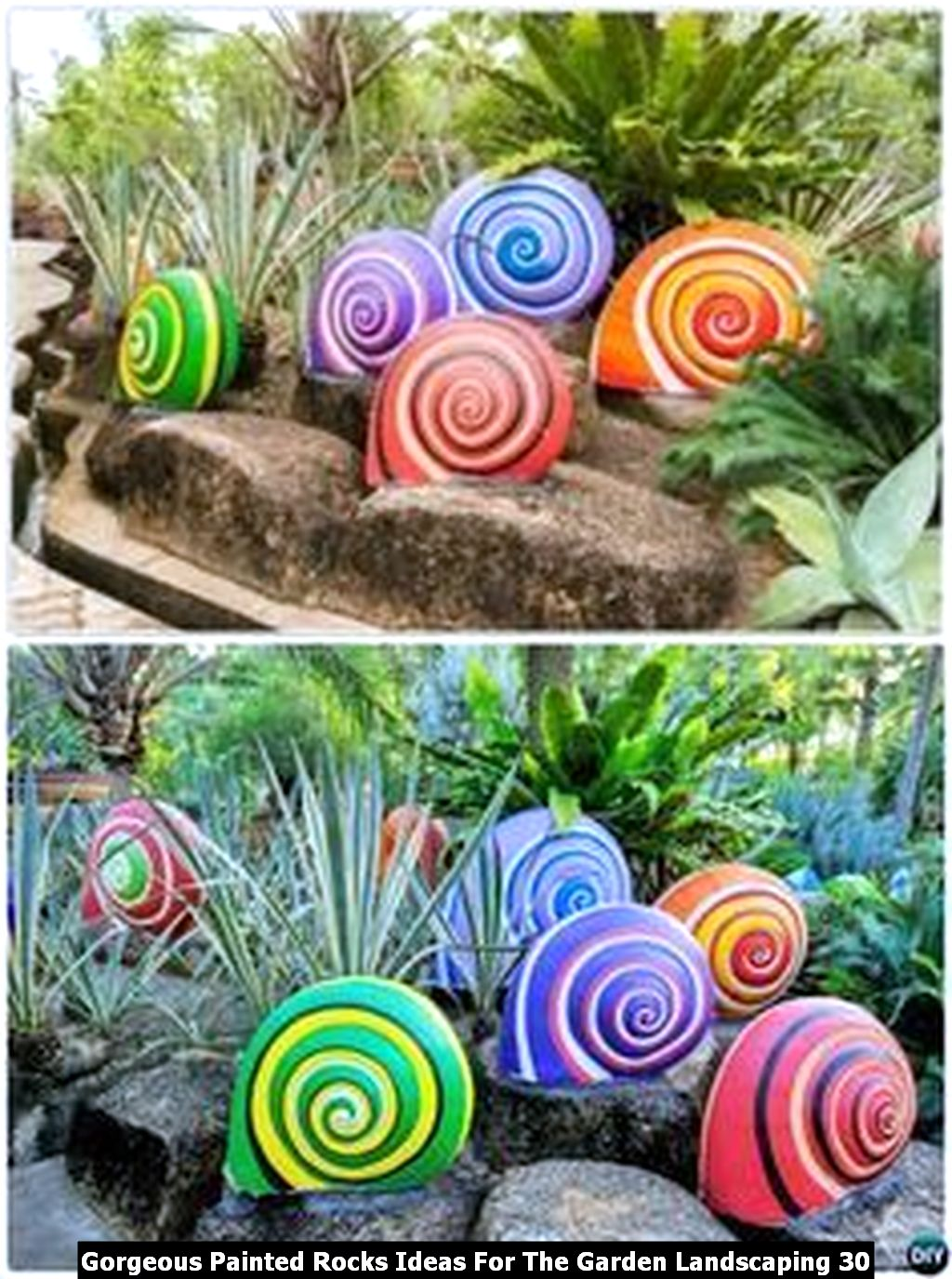 Gorgeous Painted Rocks Ideas For The Garden Landscaping 30