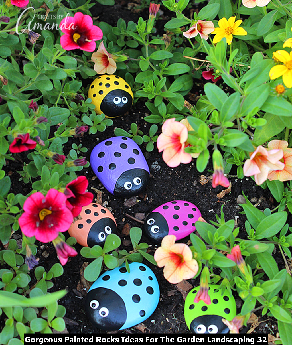Gorgeous Painted Rocks Ideas For The Garden Landscaping 32