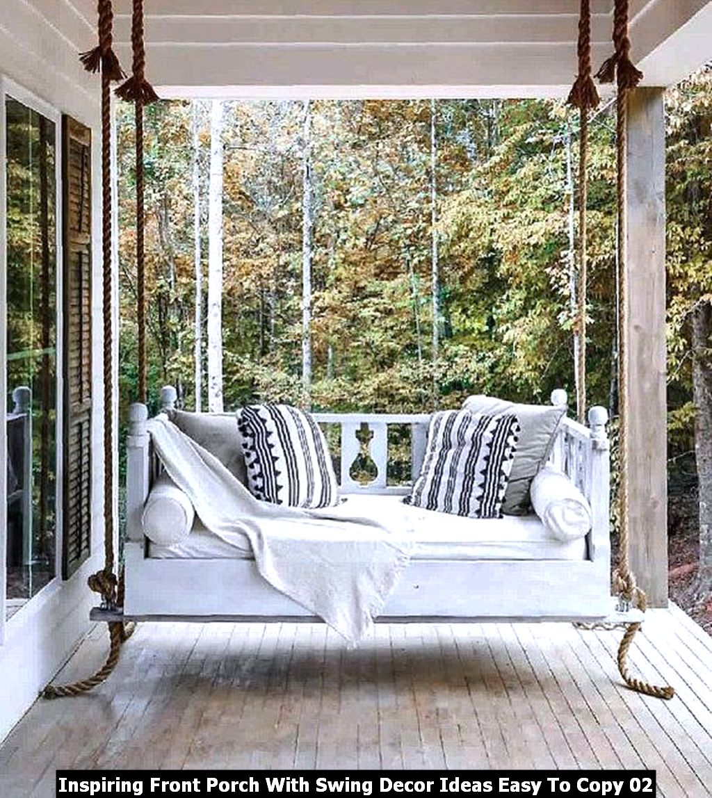 Inspiring Front Porch With Swing Decor Ideas Easy To Copy 02