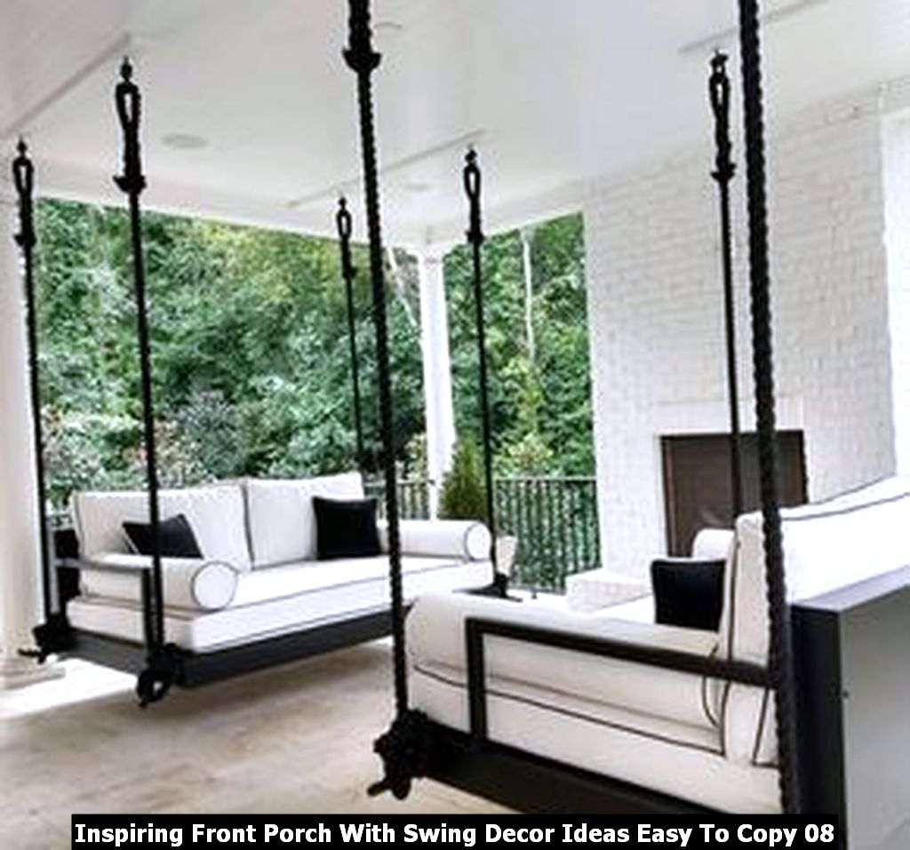 Inspiring Front Porch With Swing Decor Ideas Easy To Copy 08