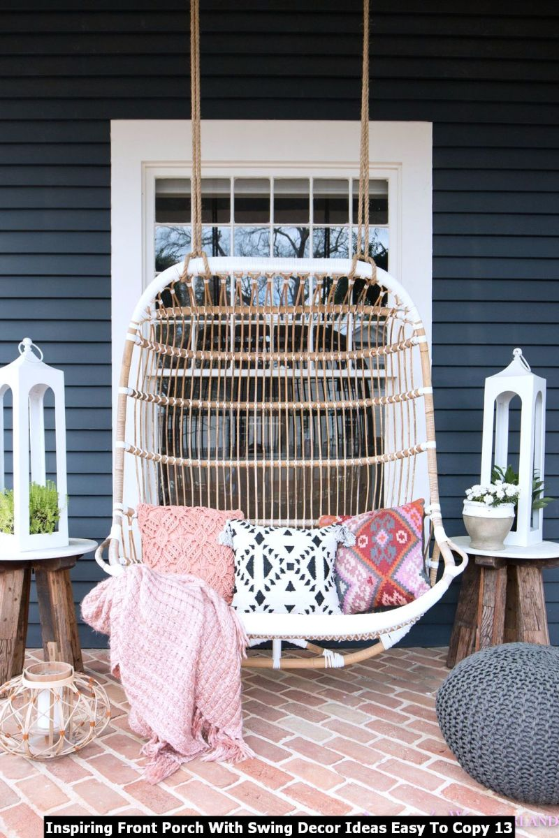 Inspiring Front Porch With Swing Decor Ideas Easy To Copy 13