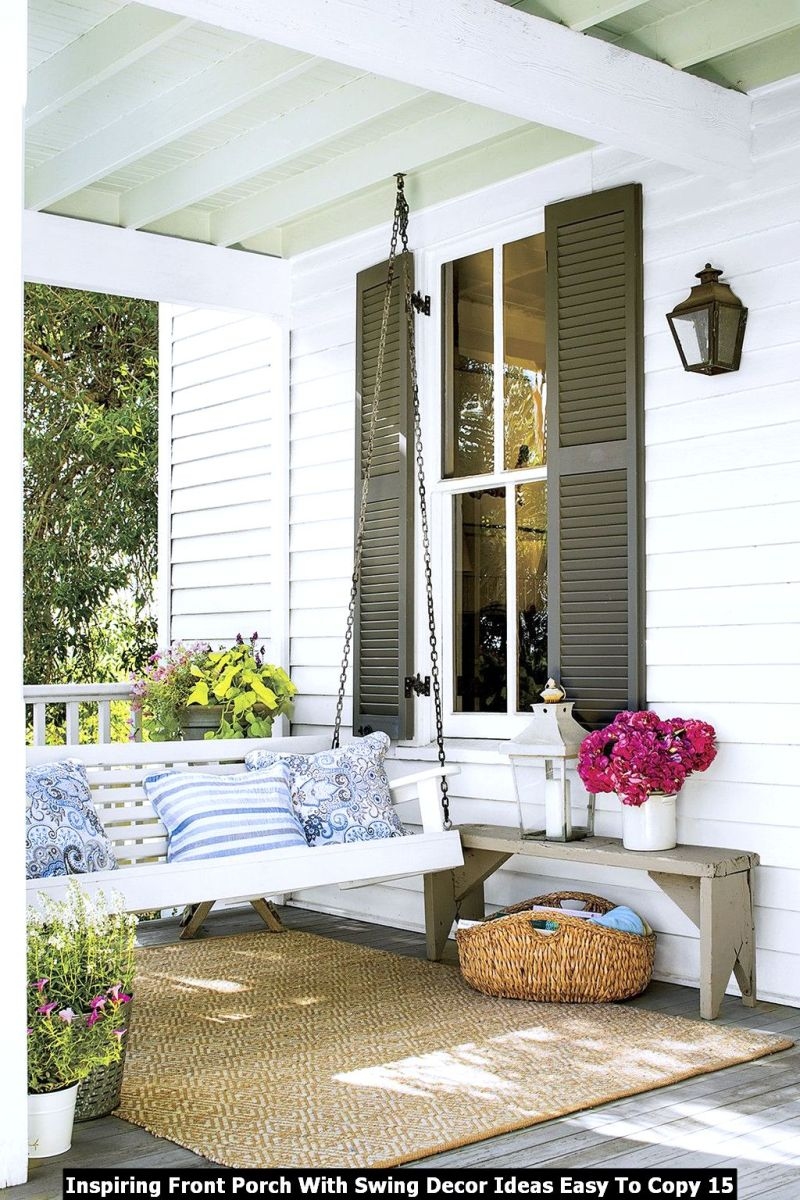 Inspiring Front Porch With Swing Decor Ideas Easy To Copy 15