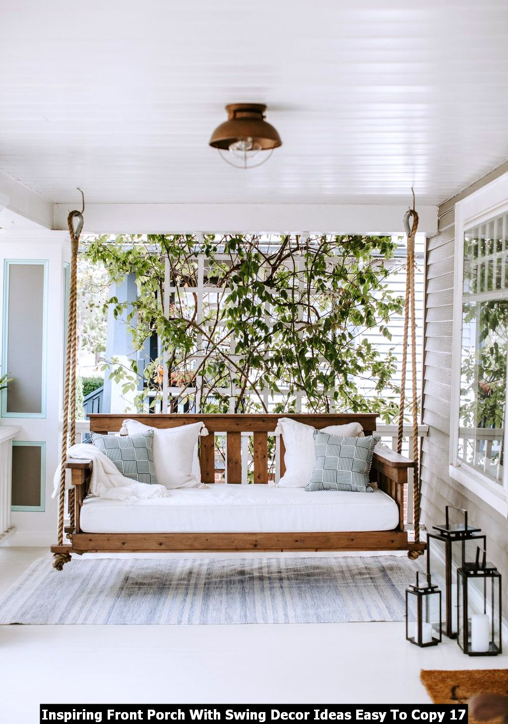 Inspiring Front Porch With Swing Decor Ideas Easy To Copy 17