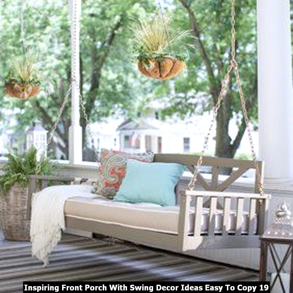 Inspiring Front Porch With Swing Decor Ideas Easy To Copy 19