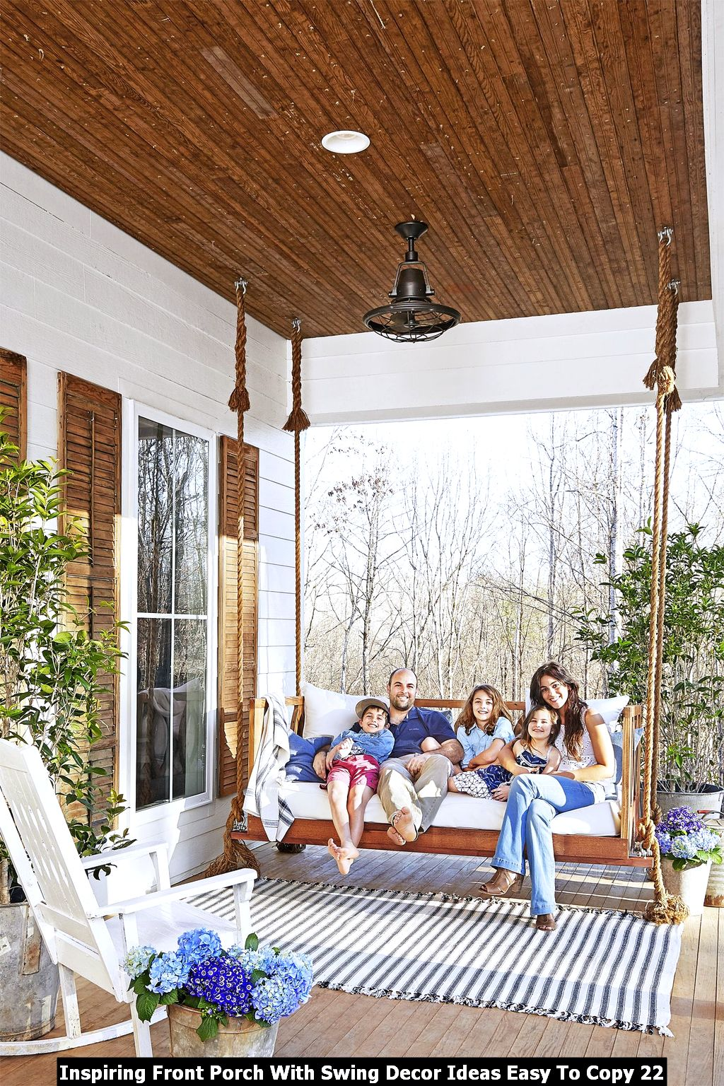 Inspiring Front Porch With Swing Decor Ideas Easy To Copy 22