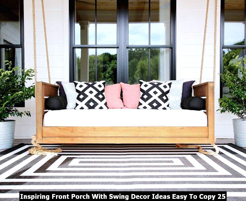 Inspiring Front Porch With Swing Decor Ideas Easy To Copy 25
