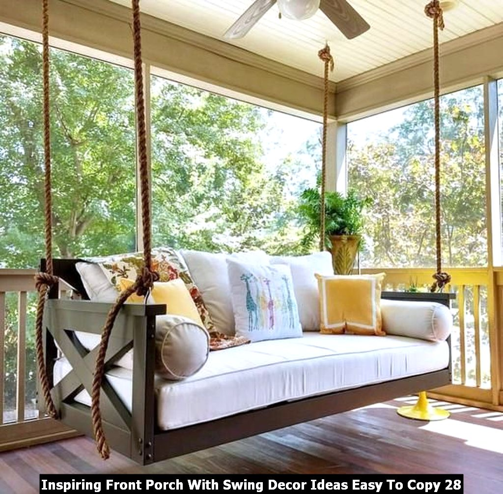 Inspiring Front Porch With Swing Decor Ideas Easy To Copy 28