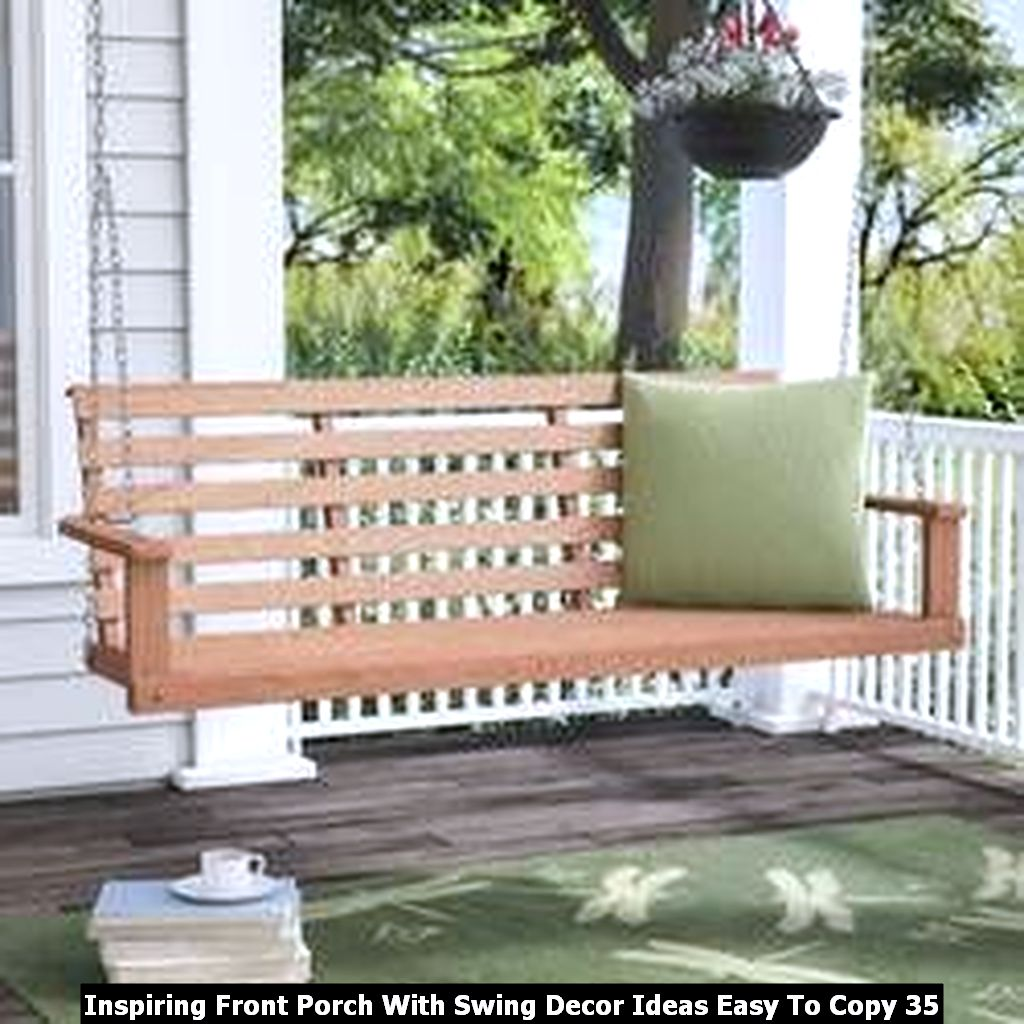 Inspiring Front Porch With Swing Decor Ideas Easy To Copy 35