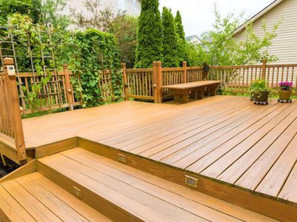 Inspiring Wooden Deck Patio Design Ideas For Your Outdoor Decor 08