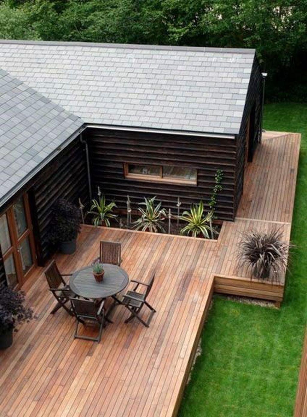Inspiring Wooden Deck Patio Design Ideas For Your Outdoor Decor 14