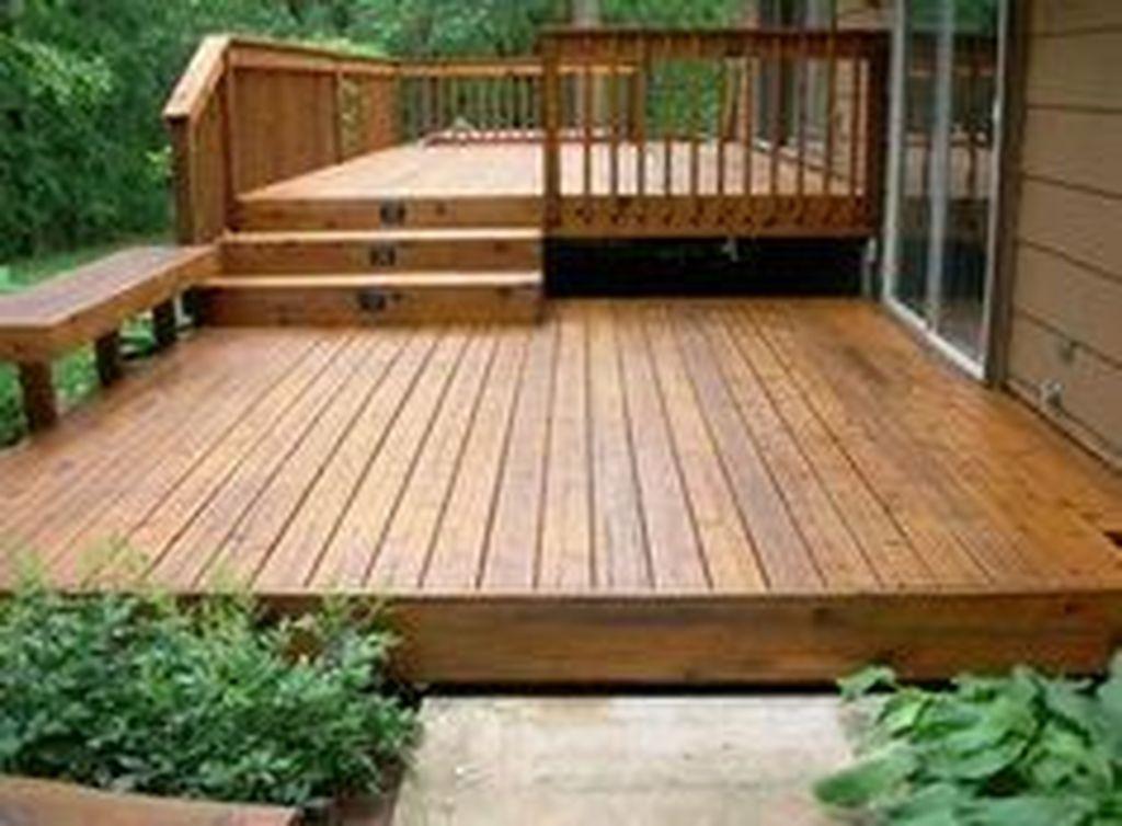 Inspiring Wooden Deck Patio Design Ideas For Your Outdoor Decor 23