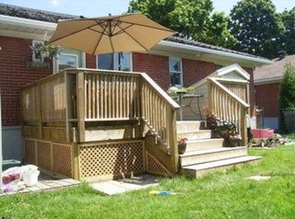 Inspiring Wooden Deck Patio Design Ideas For Your Outdoor Decor 29