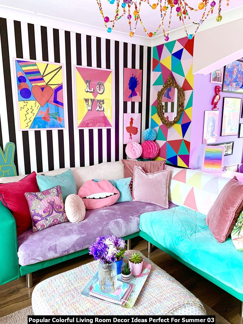 Popular Colorful Living Room Decor Ideas Perfect For Summer 03