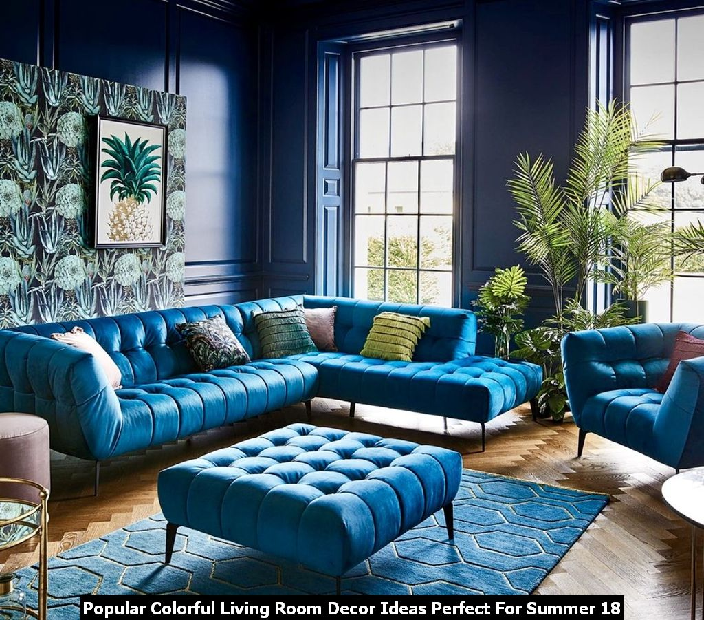 Popular Colorful Living Room Decor Ideas Perfect For Summer 18