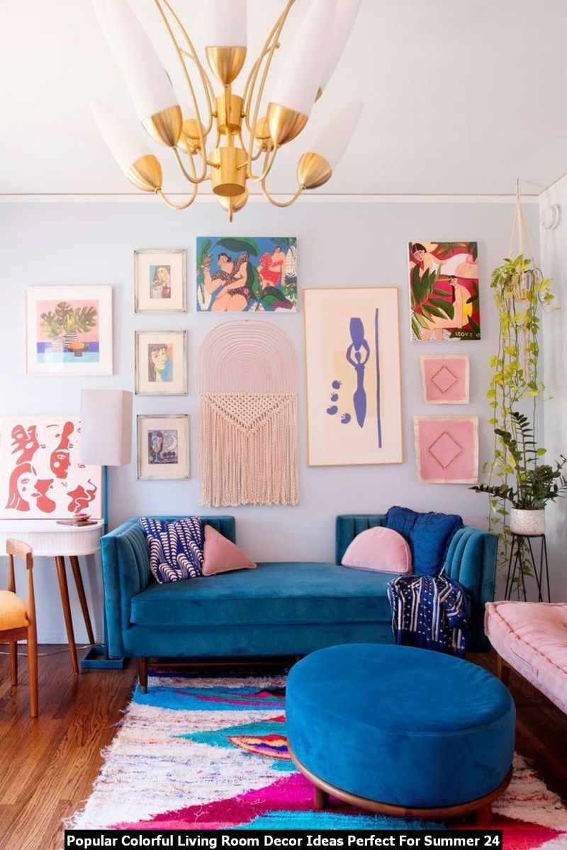 Popular Colorful Living Room Decor Ideas Perfect For Summer 24