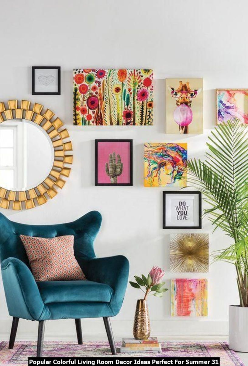 Popular Colorful Living Room Decor Ideas Perfect For Summer 31