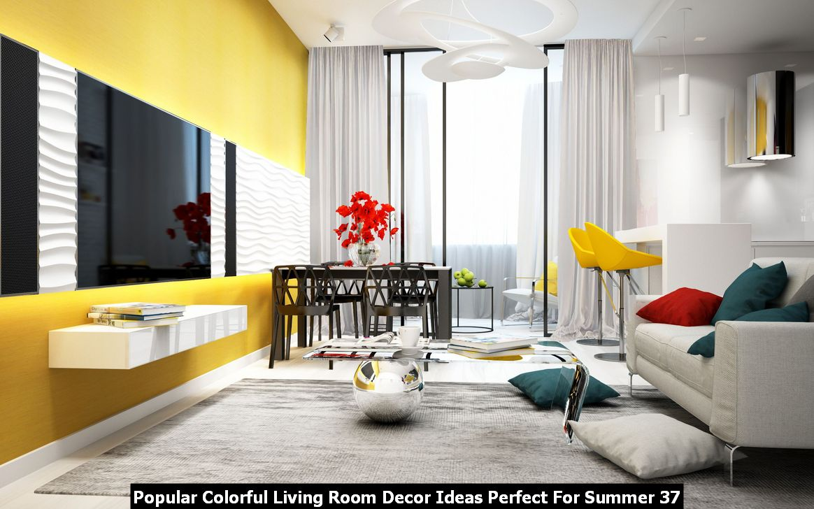 Popular Colorful Living Room Decor Ideas Perfect For Summer 37