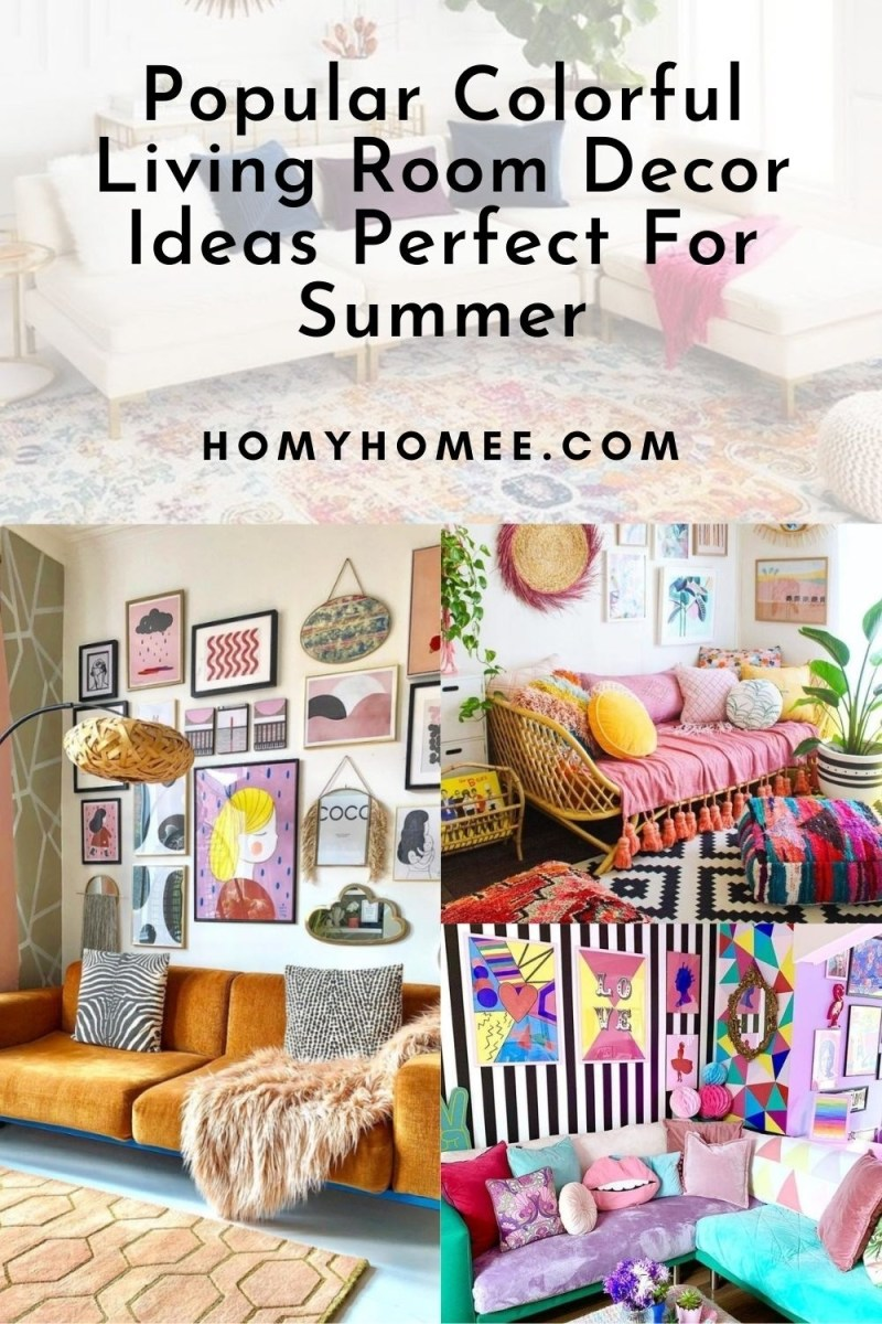 Popular Colorful Living Room Decor Ideas Perfect For Summer