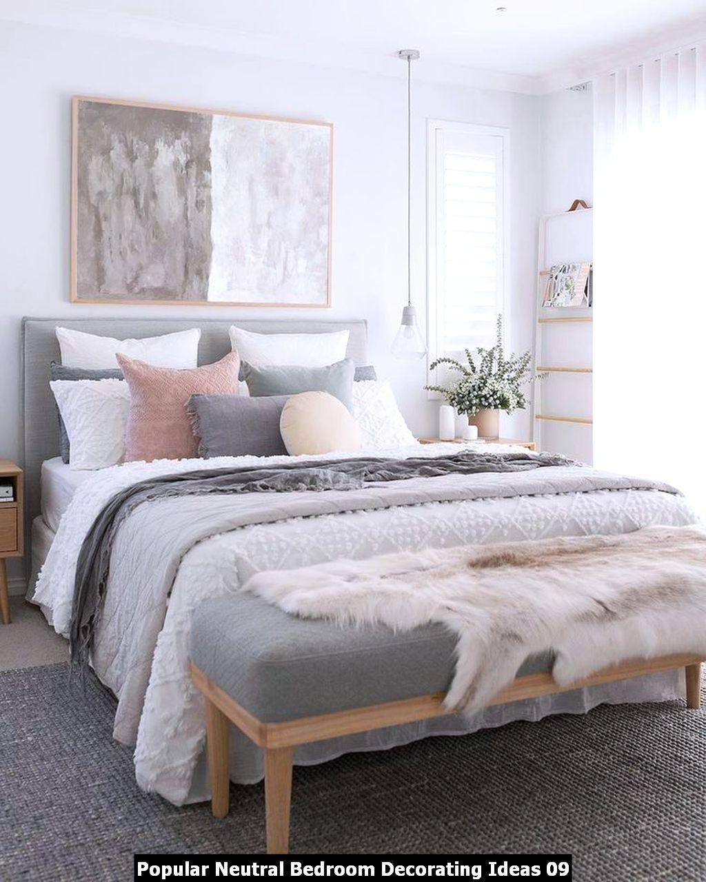 Popular Neutral Bedroom Decorating Ideas 09