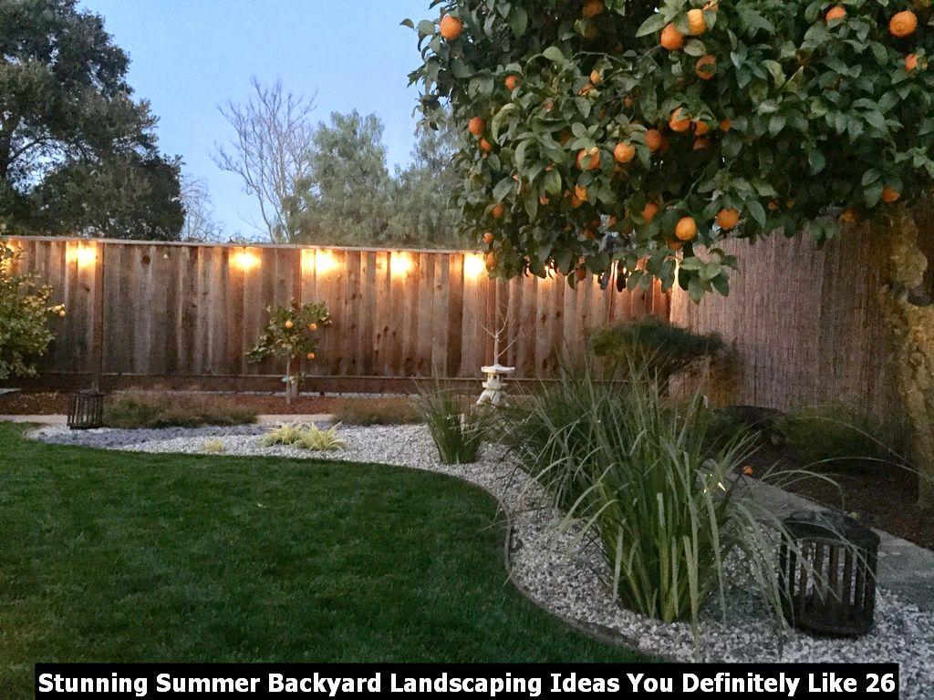 Stunning Summer Backyard Landscaping Ideas You Definitely Like 26