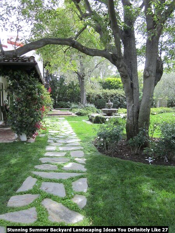 Stunning Summer Backyard Landscaping Ideas You Definitely Like 27