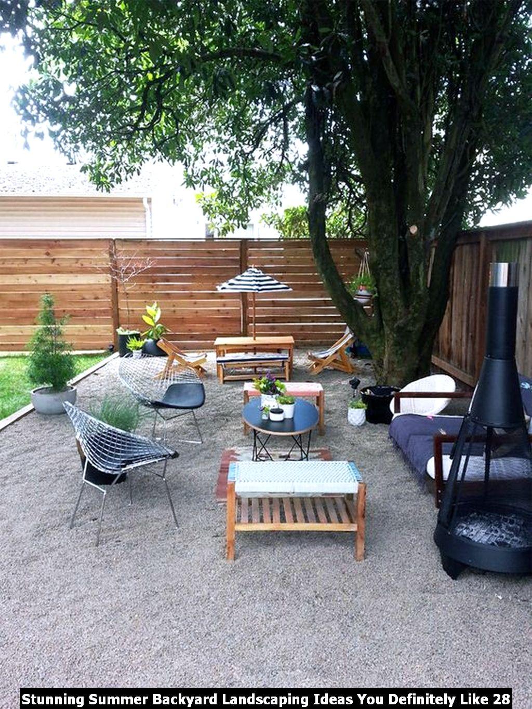 Stunning Summer Backyard Landscaping Ideas You Definitely Like 28