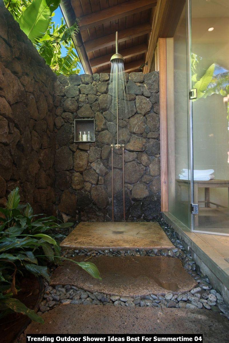 Trending Outdoor Shower Ideas Best For Summertime 04