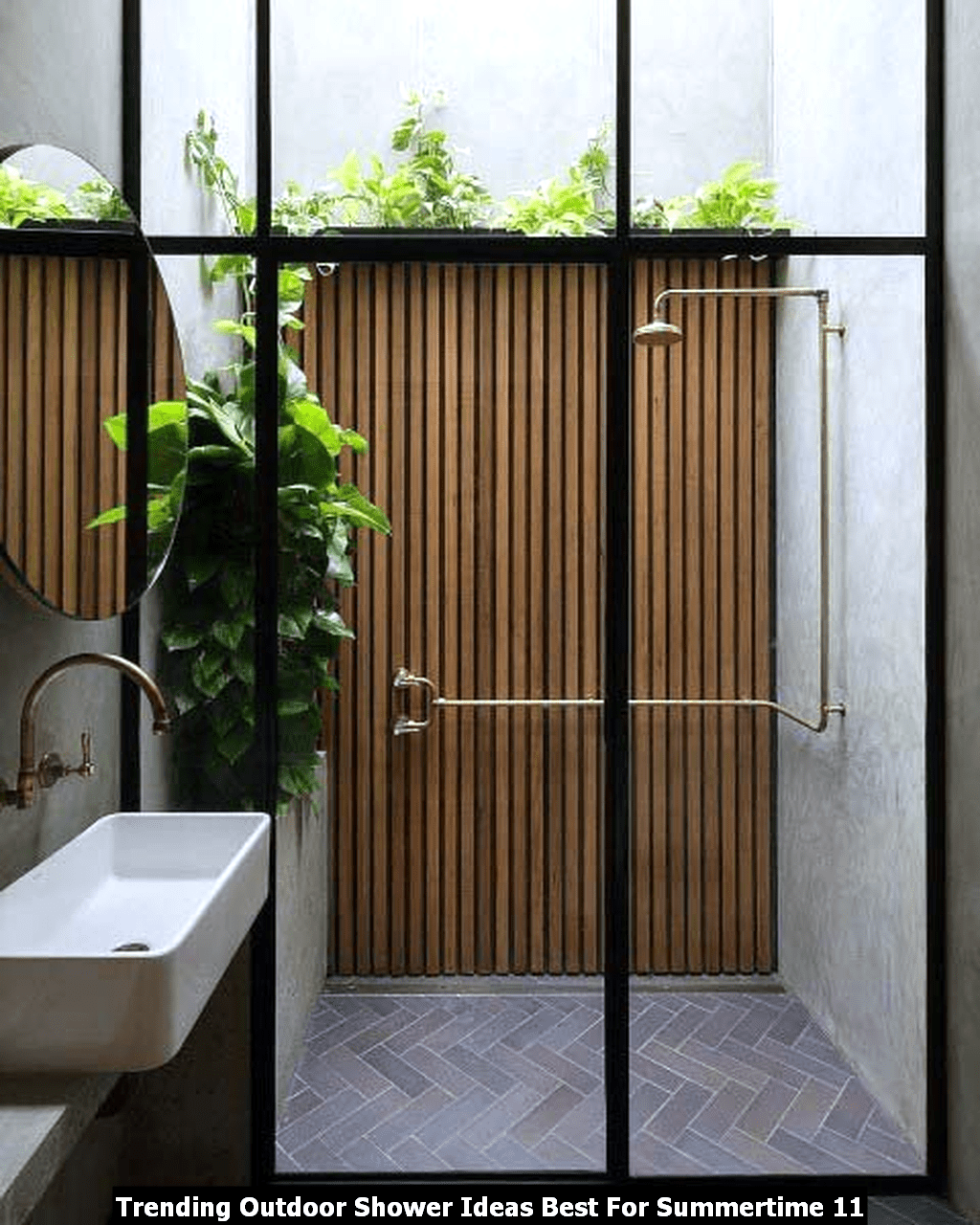 Trending Outdoor Shower Ideas Best For Summertime 11