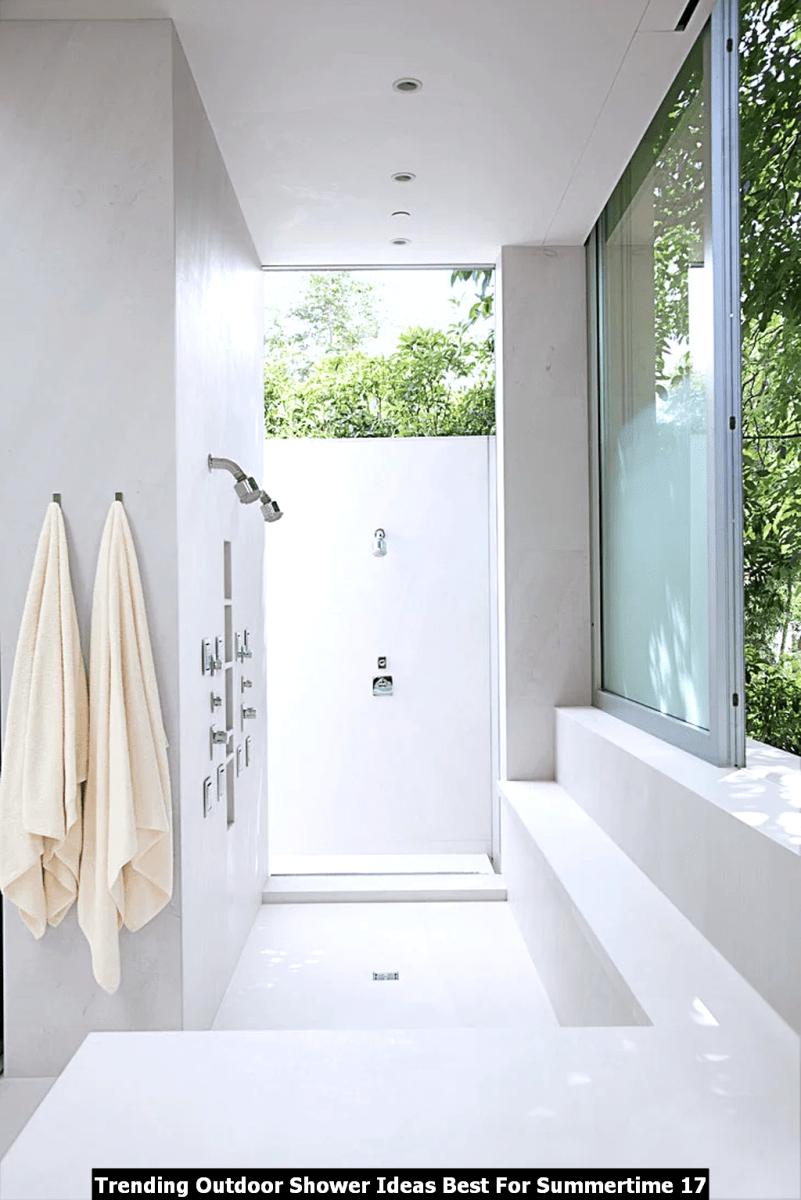 Trending Outdoor Shower Ideas Best For Summertime 17