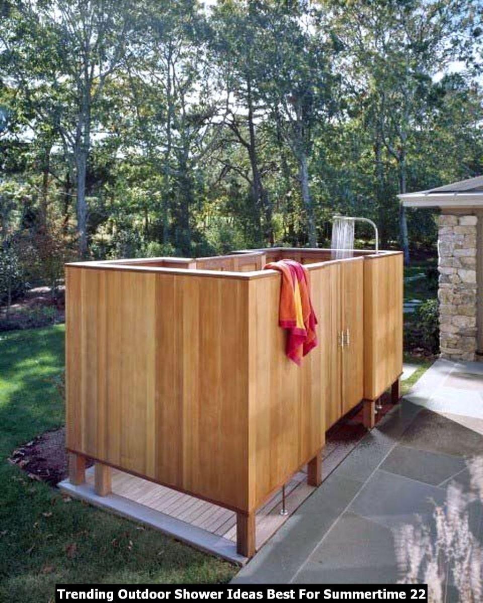 Trending Outdoor Shower Ideas Best For Summertime 22