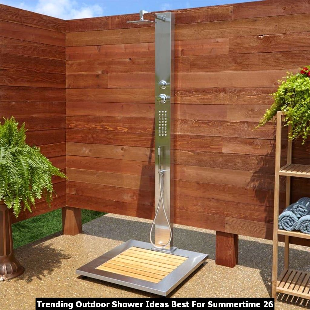 Trending Outdoor Shower Ideas Best For Summertime 26