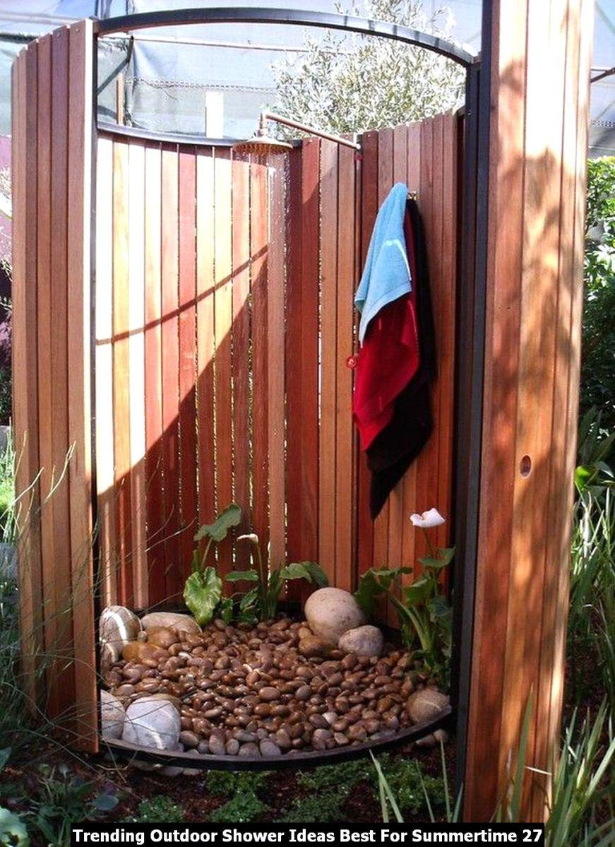Trending Outdoor Shower Ideas Best For Summertime 27